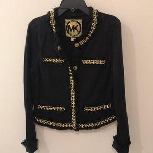 Michael Kors Black Denim Jacket Size 4